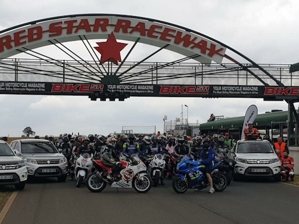 Suzuki Track Day: 330 motorcycles around Red Star for a good cause