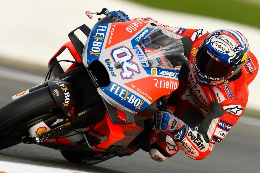 Andrea Dovizioso highlights day one Valencia test 2018