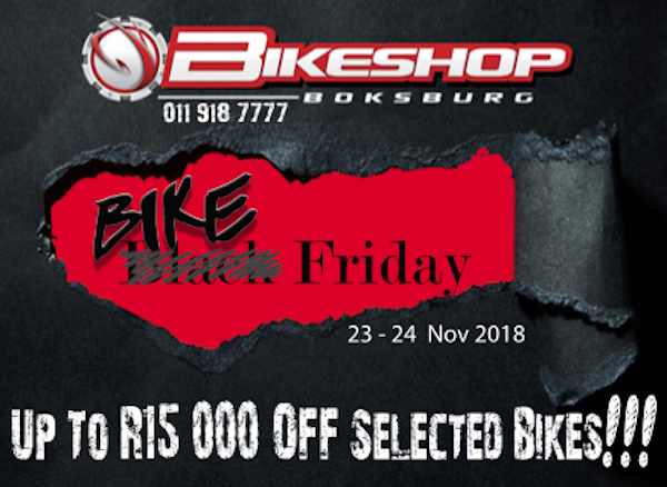 Bikeshop Boksburg black friday