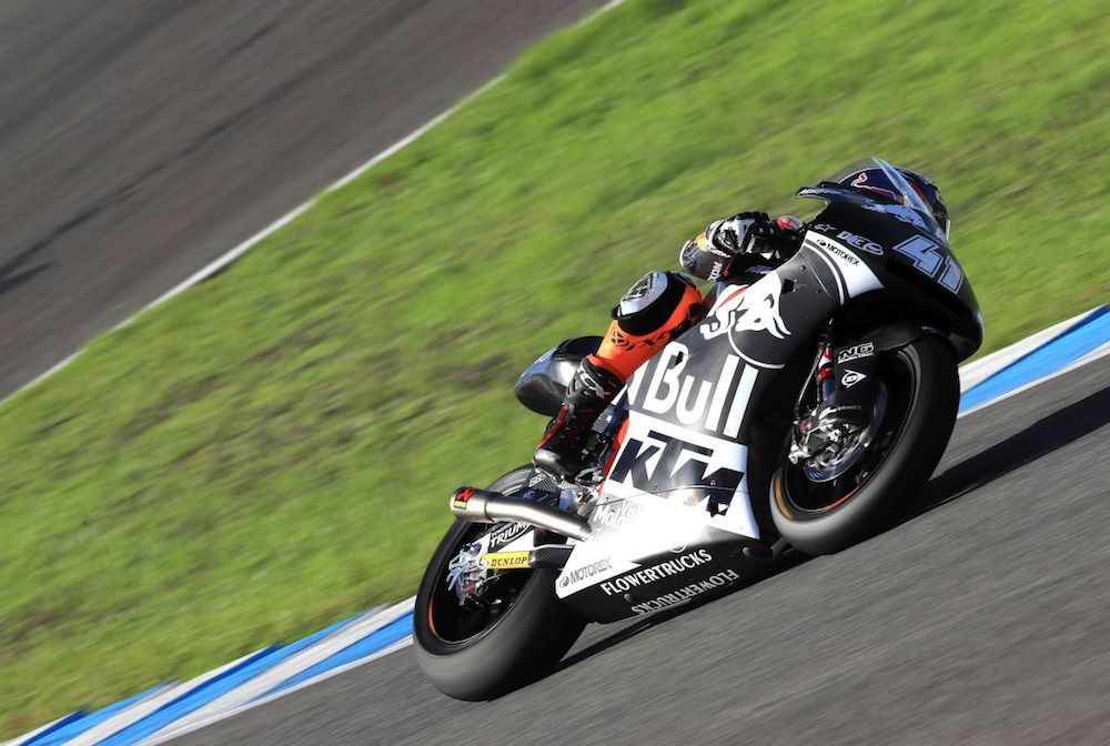 Brad Binder KTM Triumph Jerez test day one panning