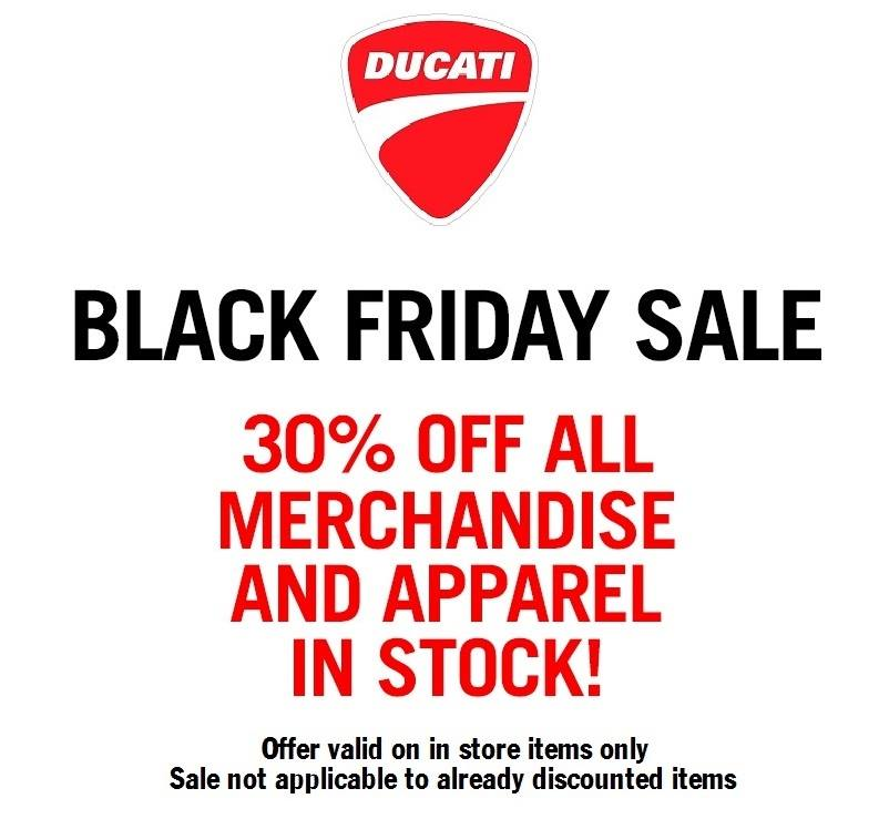 Ducati Black Friday Specials