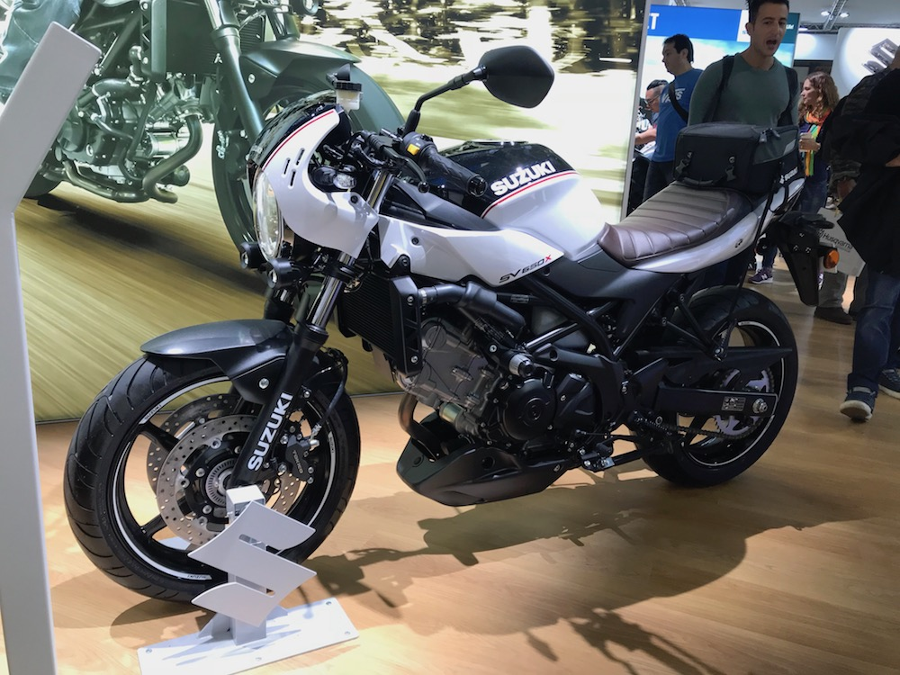 Harry Fisher Blog Triumph Suzuki SV650X Milan EICMA Show