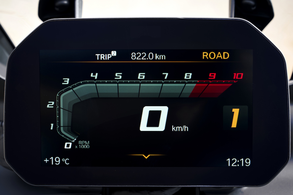 P90295872_F850 GS F750 GS Launch Cape Town TFT dash