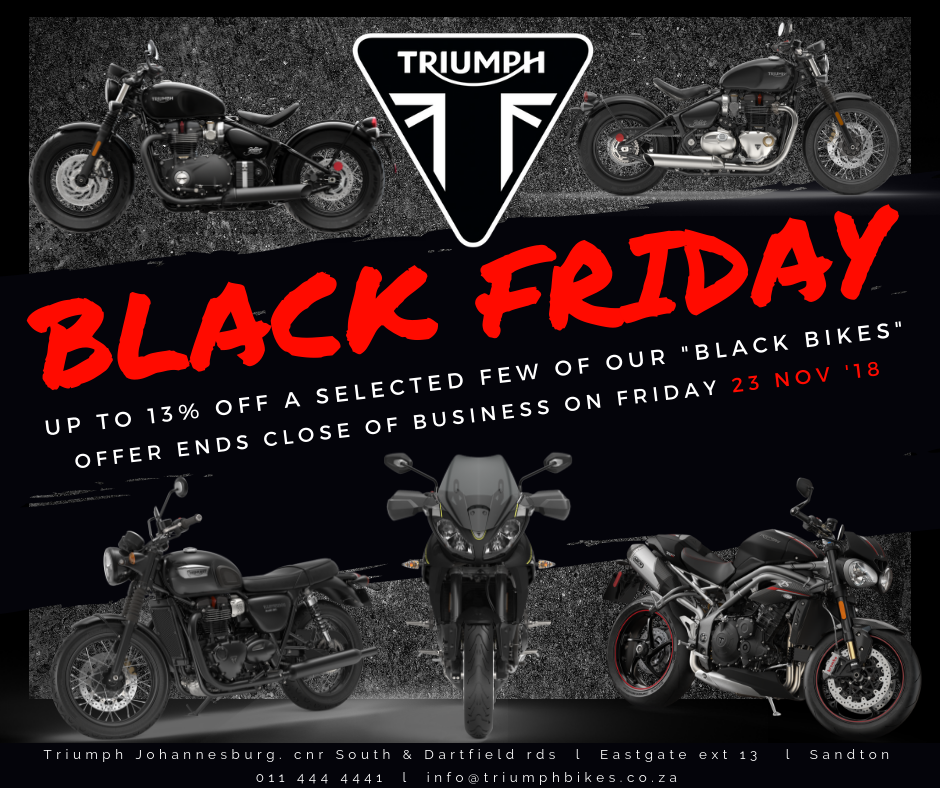 Triumph Black Friday - Bikes