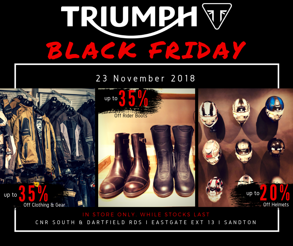 Triumph Black Friday - accessories