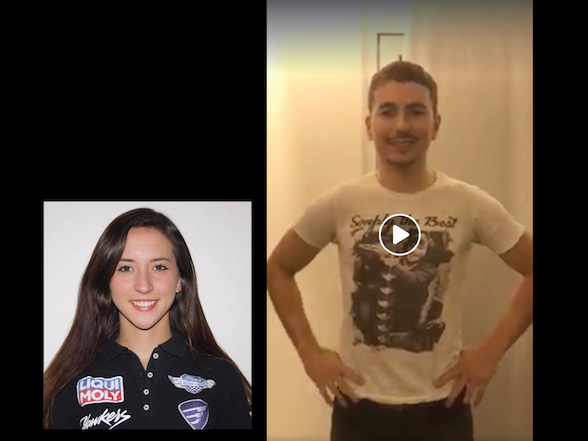Video: Jorge Lorenzo wishes injured Savannah Woodward well