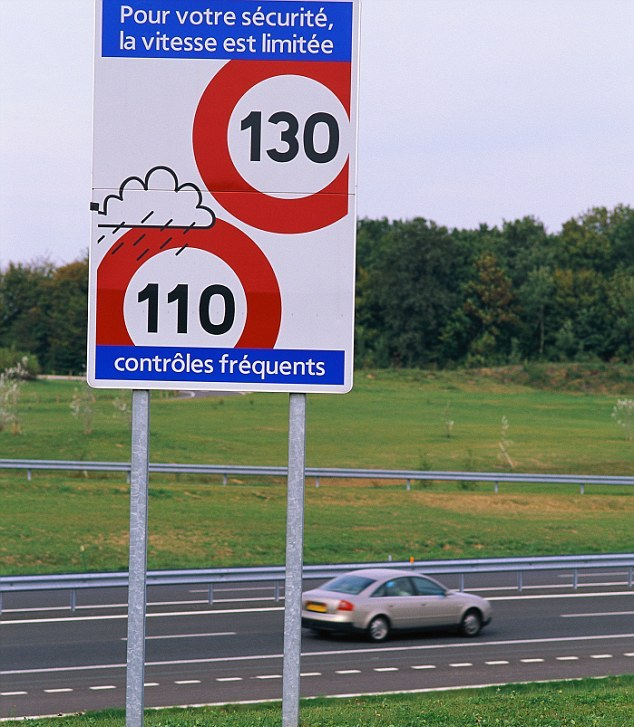 French variable speed limits