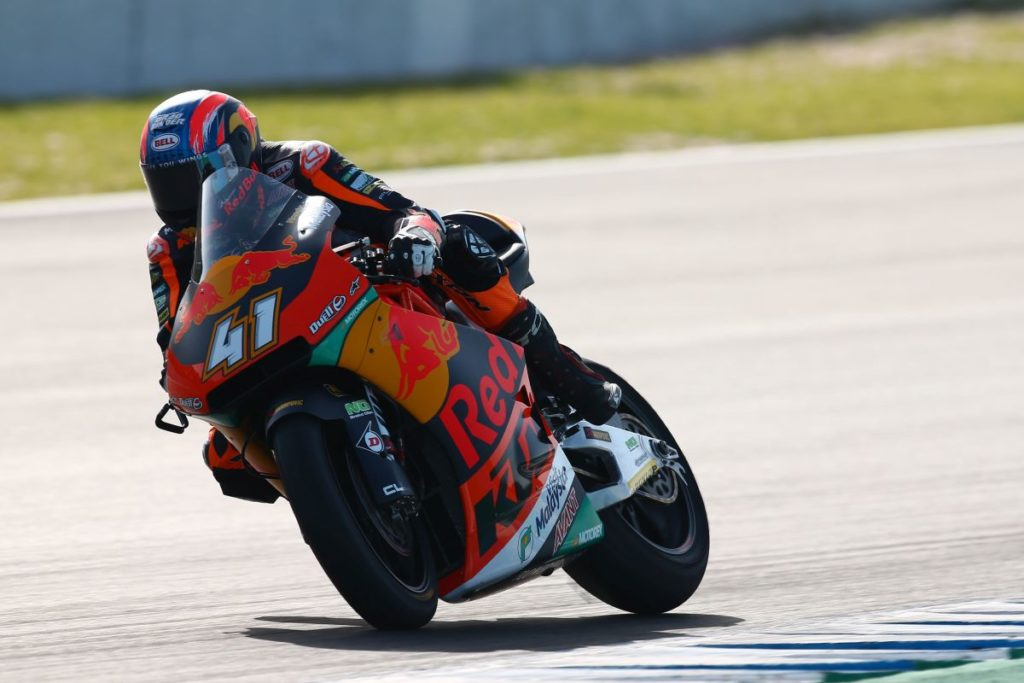 Brad Binder Jerez test 4 slide