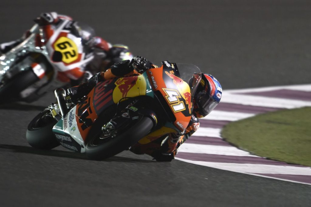 Brad Binder Qatar test 2019 elbow