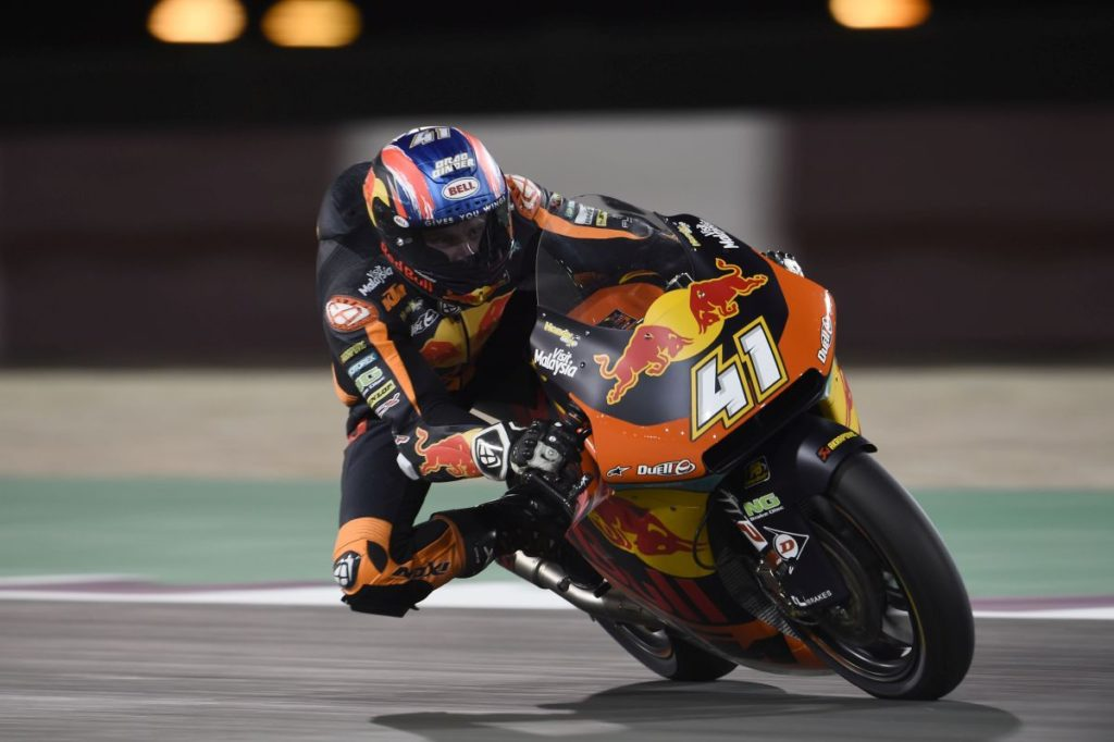 Brad Binder Qatar test 2019 sideways