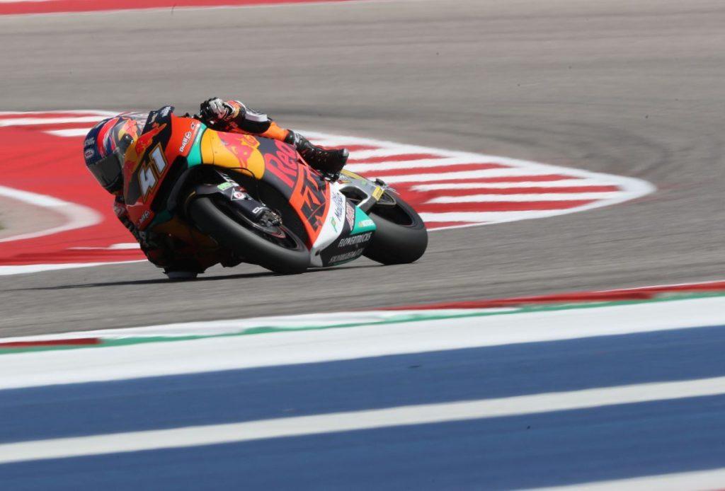 Brad Binder Austin COTA USA KTM Moto2 Red Bull Ajo flag