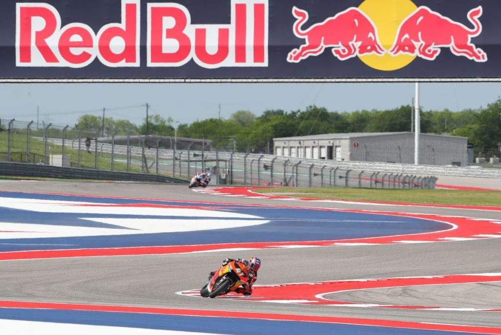 Brad Binder Austin COTA USA KTM Moto2 Red Bull Ajo switches
