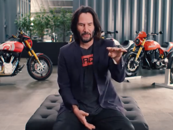 Keanu Reeves Arc Motorcycles Video