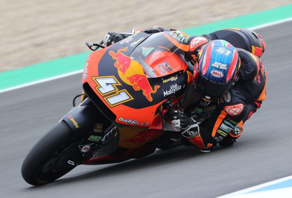 Brad Binder Jerez KTM Moto2 Elbow