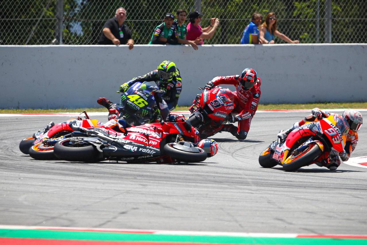Not Jorge Lorenzo fault crash Catalunya MotoGP 1