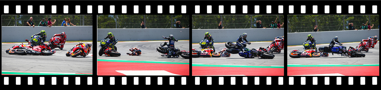 Not Jorge Lorenzo fault crash Catalunya MotoGP film reel
