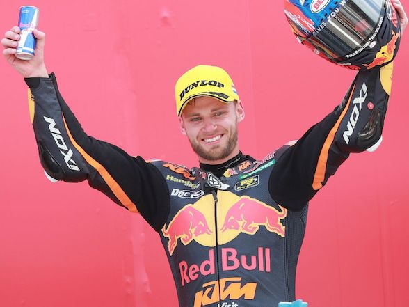 "Brad Binder on Assen podium: ""I'm very happy because today we finally took a big step forward"""