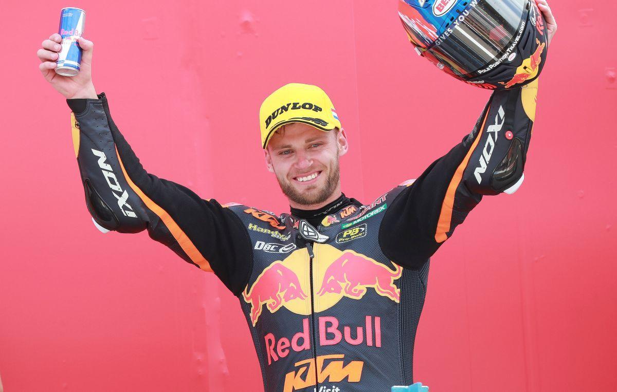 Brad Binder KTM Moto2 race podium