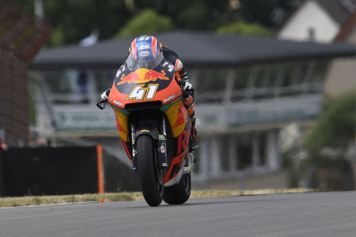 Brad Binder Sachenring Friday tops timesheets fastest KTM Moto2