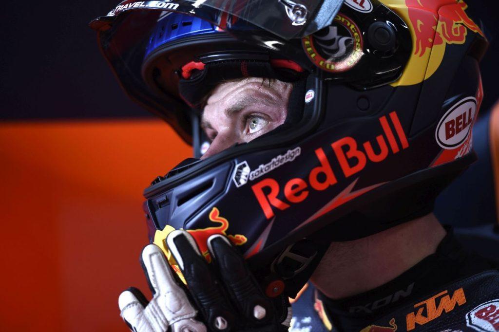 Brad Binder KTM Moto2 Ajo Red Bull Czech Republic Brno helmet eyes