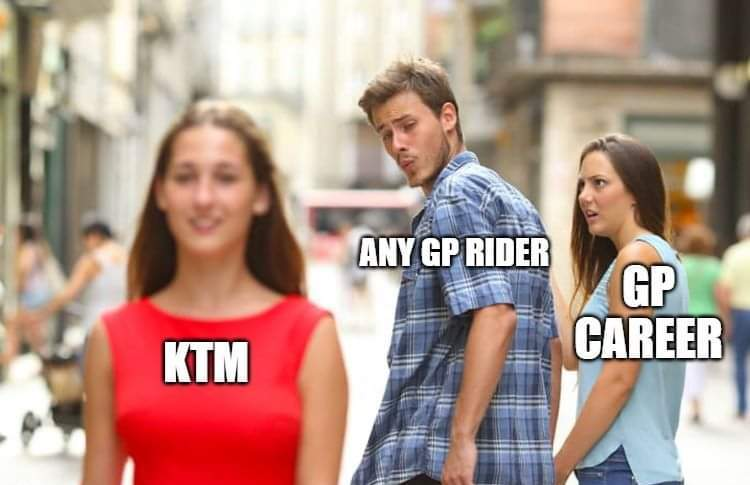KTM MotoGP Career Meme