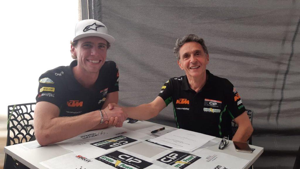 Darryn Binder signs for CIP Green Moto3 KTM 2020