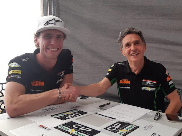 Darryn Binder re-signs with the CIP-Green Power Moto3 team for 2020