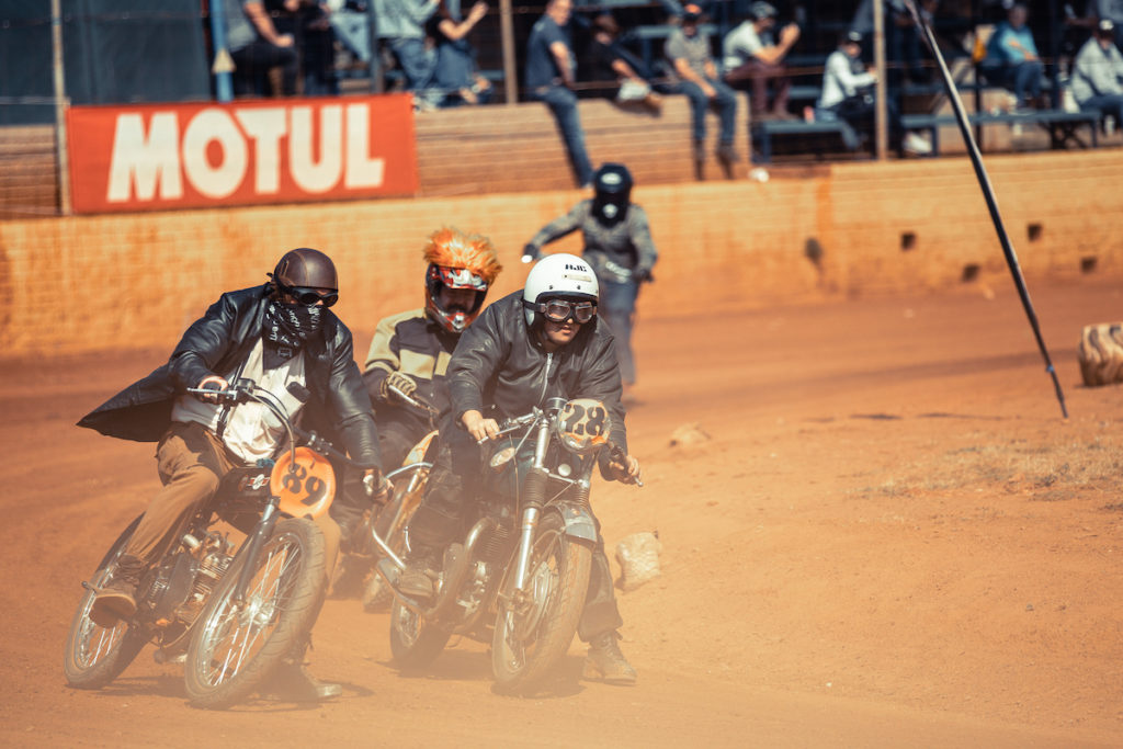 The flat oval track gives riders a chance to pit their machines against one another and kick up some dust, 2019 Stofskop taken by ZCMC