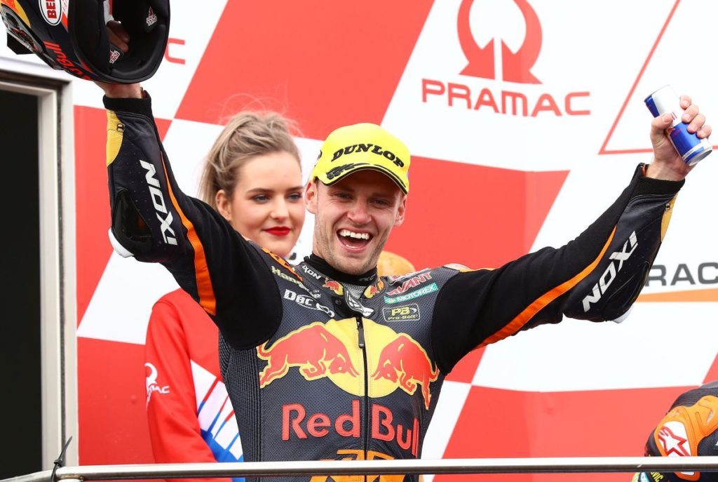 Brad Binder Austrlian MotoGP Moto2 KTM race win podium