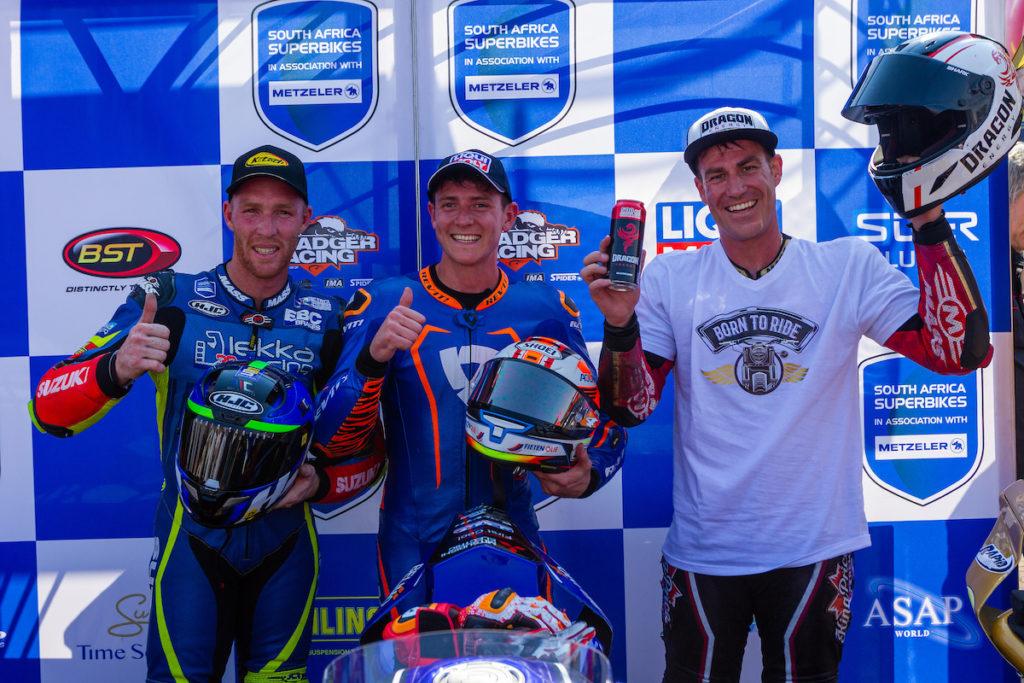 Clint Seller Blaze Bakes South African Superbike Supersport Champion Podium