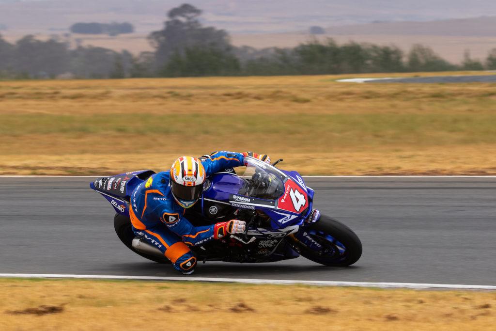 Clint Seller Blaze Bakes South African Superbike Supersport Champion Steven Odendaal
