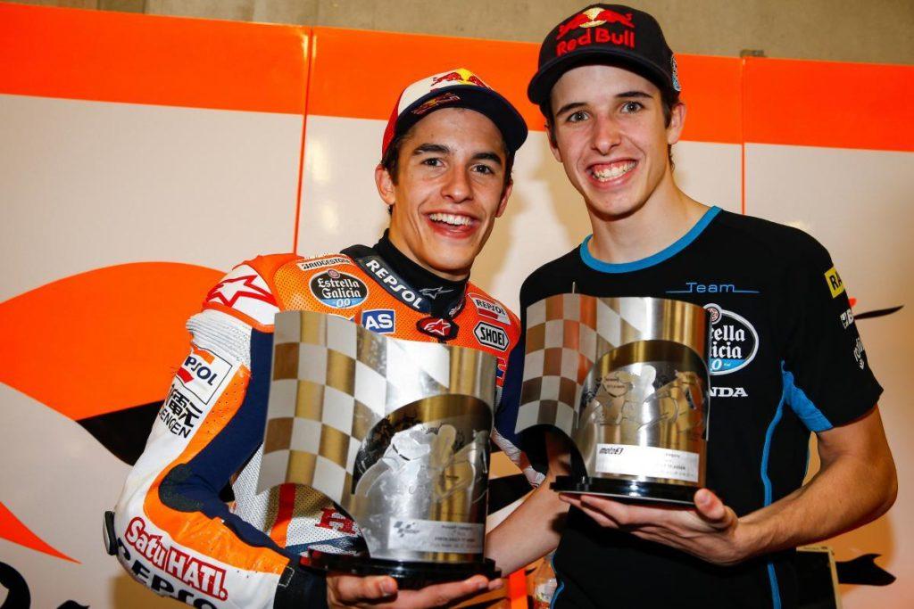 Alex Marc Marquez MotoGP Repsol Honda brothers Trophies