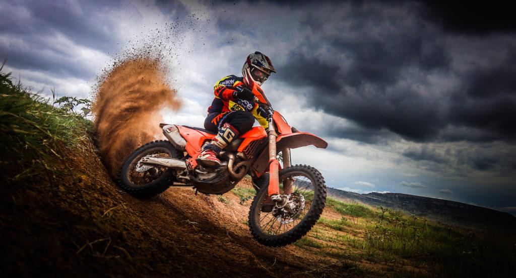 KTM Signs Charan Moore offroad racing berm