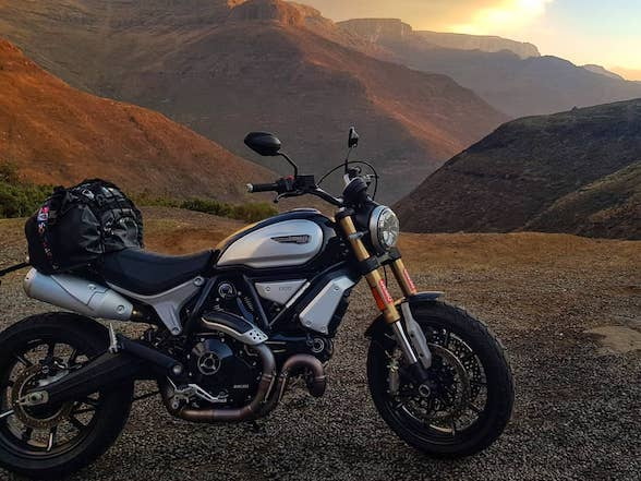 Going mad: Ducati Scrambler 1100 through a Lesotho winter