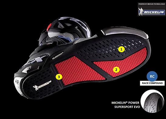 TXC Boots Michelin_burnout_sole