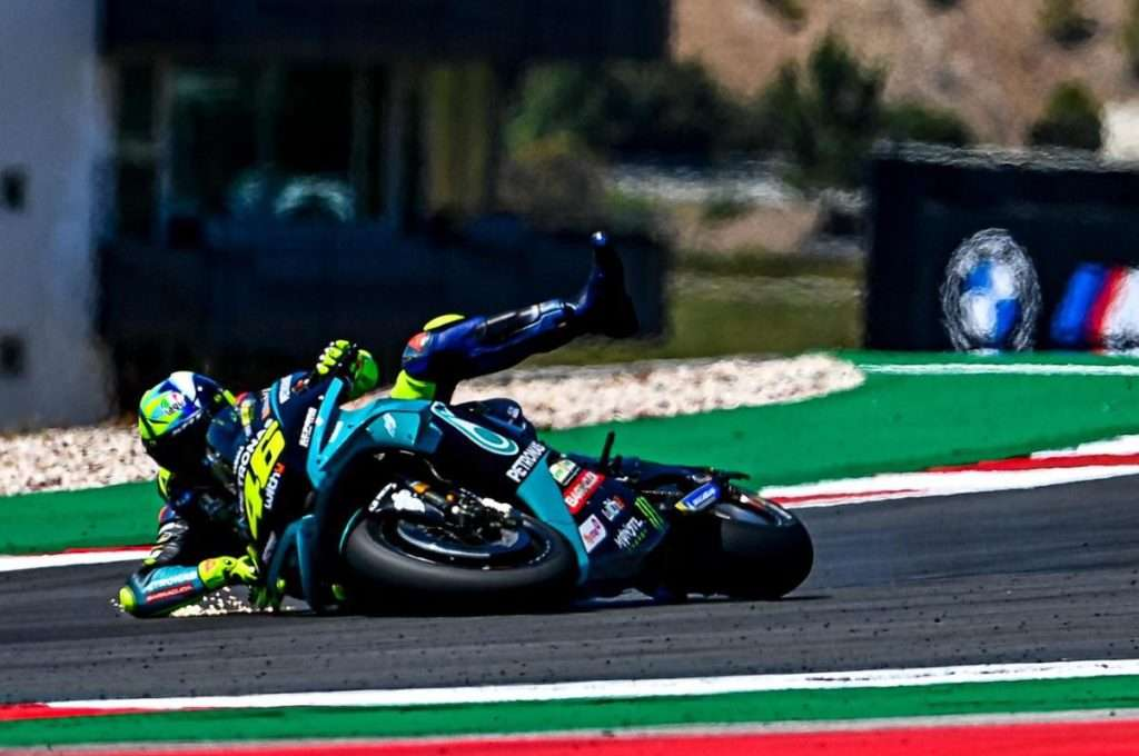 Valentino Rossi Portimao MotoGP crash Feature