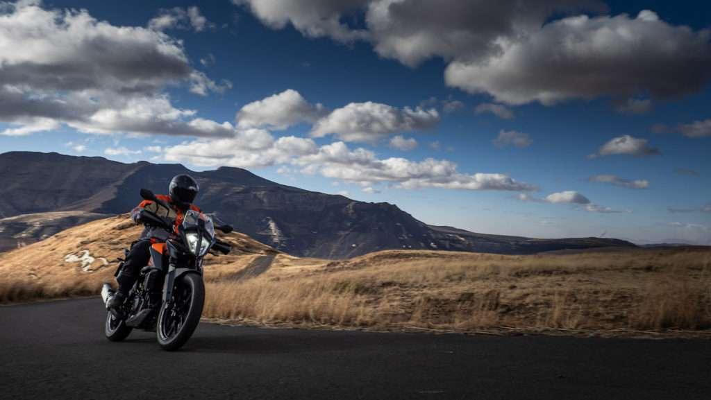 KTM 390 Adventure Snow Quest Clarens Test corner