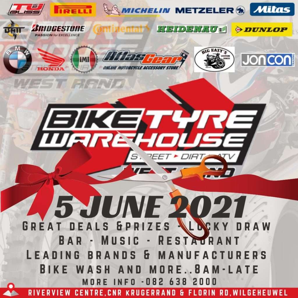 Bike Tyre Warehouse West Rand Opening banner