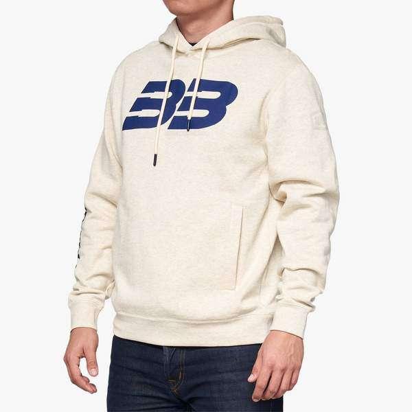 Brad Binder BB33 100 percent white hoodie